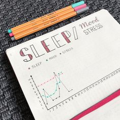 """216 Likes, 1 Comments - Linda (@my_bujolife) on Instagram: """"Tracking sleep, mood and stress level this month ✔️ • • • #bulletjournalcommunity #bujolove…"""""""