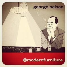 George Nelson - Designer of the Bubble Lamp. #georgenelson #bubblelamp #modernfurniture #moderndesign