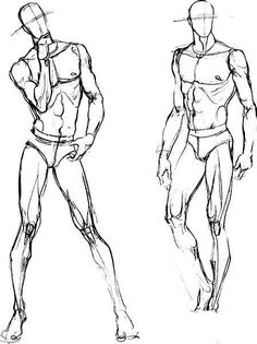 【福利】分享一些人体动态结构图给喜欢服装...@安光NOAON采集到ACG速写(233图)_花瓣插画/漫画