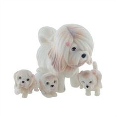 "Puppy In My Pocket ""Mum & Babies"" - Lhasa Apso Family (U.K. and Worldwide)"