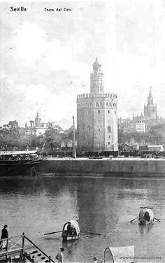 Fotos de la Sevilla del Ayer (VII) - Página 3 Foto Vintage, Light And Shadow, Decoupage, Patio, World, City, Santa Cruz, Andalusia, Vintage Postcards