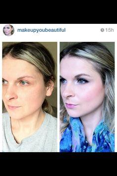 Makeup before/after #makeupyoubeautiful
