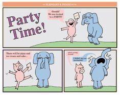 Gerald and Piggie Birthday Invitations Mary Birthday, 2nd Birthday Parties, Birthday Bash, Birthday Invitations, Birthday Ideas, Piggie And Elephant, Elephant Party, Elephant Birthday, First Grade Themes