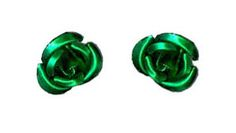 Have a little sugar and spice with these metallic rose earrings! The brilliant green color of these beauties is enough to catch anyone's eye.