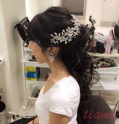 黒髪+MARIA ELENA♡華やかで品のある2スタイル・リハ編   大人可愛いブライダルヘアメイク 『tiamo』 の結婚カタログ