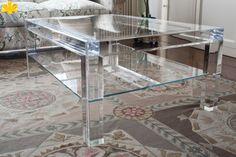 MODELLO MISSING A DUE PIANI #tavolino #trasparente #acrylic #coffeetable #plexiglass http://www.eldoradosas.it/design/tavolosoggiornodesign/tavolosoggiornodesign.html