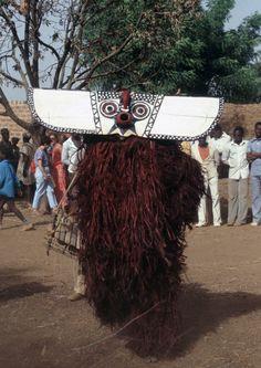 Hawk mask, Bonde family, Bwa peoples, village of Boni, Burkina Faso, 1985. Photo by Christopher D. Roy.