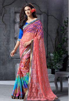 #Multicolor #Jacquard,#Silk #Designer #Saree #nikvik  #usa #designer #australia #canada #jacquardsaree