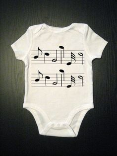Music Notes Baby Onesie Kids Clothes Children by TinyVesselApparel, $14.00