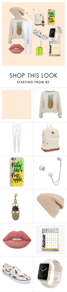 """""""Aloha Pineapple"""" by forever-creating-memories on Polyvore featuring Wildfox, Miss Selfridge, Aéropostale, Casetify, Bling Jewelry, STELLA McCARTNEY, Hinge, Lime Crime, DIY Nails and Vans"""