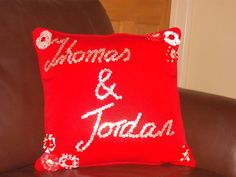 Personalized Hand Sewn Button and Fabric Flower by Blandsgill, £15.00