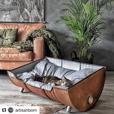 Memes, , and pet: upcycled pet bed from an oil barrel upcycled table dog bed, upcycled pet bed from an oil barrel meme on meme. New Swedish Design, Oil Barrel, Cat Room, Pet Furniture, Industrial Dog Beds, Cheap Furniture, Industrial Style, Furniture Ideas, Homemade Home Decor