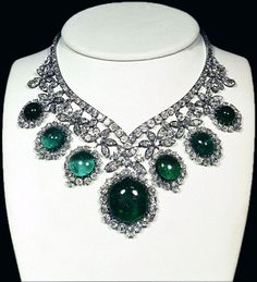 Emerald Necklace; was a part of the Imperial Crown Jewels of Iran.