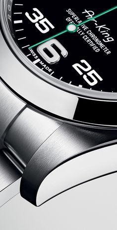The name of the new Rolex Air-King is written on the dial with the same lettering that was designed specifically for the model in the 1950s. #RolexOfficial #Baselworld2016