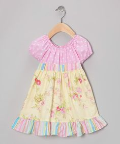 Take a look at this Yellow Rose Bouquet Patty-Cake Dress - Toddler & Girls by Beary Basics on #zulily today!