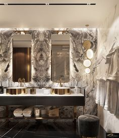 Best Eclectic Bathroom Design Ideas - Bathroom - Info Virals - New Fashion and Home Design around the World Dream Bathrooms, Beautiful Bathrooms, Luxury Bathrooms, Modern Bathrooms, Home Design, Design Art, Cabin Design, Bathroom Design Luxury, Bathroom Layout