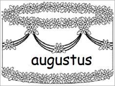 Verjaardagskalender (taart): augustus