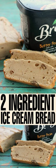 This 2 ingredient ice cream bread is super easy to make  and results in a delicious and moist bread that is lightly flavoured.