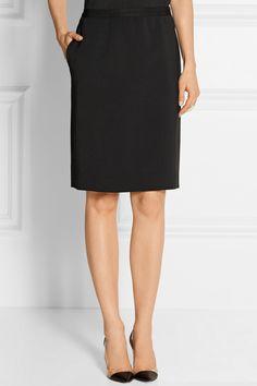 Lanvin|Stretch-gabardine skirt|NET-A-PORTER.COM