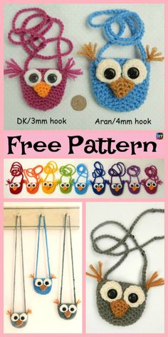 This Crochet Owl Bag project is super cute, adorable, and will look great on your child's back! It is also very easy to crochet ,and with a bit of work Crochet Shell Stitch, Easy Crochet, Crochet Baby, Free Crochet, Crochet Purse Patterns, Crochet Purses, Crochet Basics, Crochet Accessories, Craft Patterns