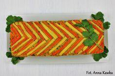 Pieczony pasztet z grochu i warzyw