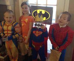 Super Hero Party games.  Pin the bat on the batman