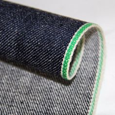 """slevedge denim :selvedge comes from the term """"self-edge"""",the woven strip on both egdes of a roll of fabric.it is premuim quality denim with a clean,tailored look cotton green Selvedge ID Japanese Selvedge Denim, Fabric Suppliers, Raw Denim, Pretty Green, Sunglasses Case, Cotton Fabric, Jeans, Vintage, Fashion"""