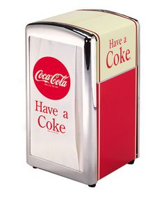 Loving this 'Have a Coke' Napkin Dispenser on #zulily! #zulilyfinds