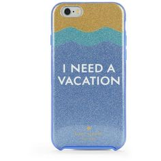 Kate Spade New York I Need a Vacation iPhone 6 Case ($40) ❤ liked on Polyvore featuring accessories, tech accessories, blue multi and kate spade