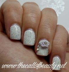 The Call of Beauty: Nail Art of the Day: Wedding Details - Pure White
