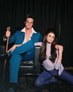 Elvis And Priscilla, Elvis Presley, Halloween 2020, Halloween Costumes, Elvis Costume, Presley Gerber, Kaia Gerber, Retro Aesthetic, Celebs