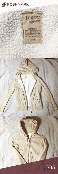 💝 J CREW Vintage Fleece hoodie . Sz Small 💝 Very soft and warm inside and out. In excellent condition J. Crew Jackets & Coats