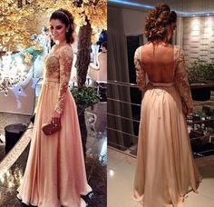 Blush Pink Backless Vintage Long Sleeves Lace Prom Dresses, PM0062 The dress is fully lined, 4 bones in the bodice, chest pad in the bust, lace up back or zipper back are all available. This dress cou