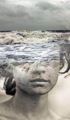 photo manipulation by Spanish-based artist © Antonio Mora (a.k.a. Mylovt) blending human and nature images into surreal hybrid artworks mylovt.com
