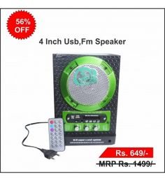 4 Inch USB,FM Speaker with Remote