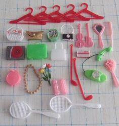 Vtg Barbie Clone Marx Marlene Doll Accessories Hangers Hand Bags Lot #Accessories