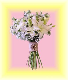 Occasions Florist  Murphy NC  White Wildflower Bouquet with Burlap and Lace
