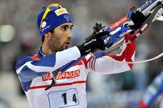 Martin Fourcade - Biathlon. My new favorite winter sport to watch. Thank you Olympics!