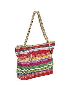 Awesome crochet tote bag - perfect for the beach!