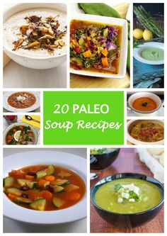 20 Paleo Soup Recipes: delicious paleo soups for lunch or dinner Zone Recipes, Paleo Recipes Easy, Diet Recipes, Paleo Soup, Paleo Dinner, Sans Gluten, Food Allergies, Healthy Eating, Clean Eating