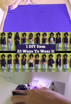 A super fast scarf tutorial - can be worn *25* different ways!