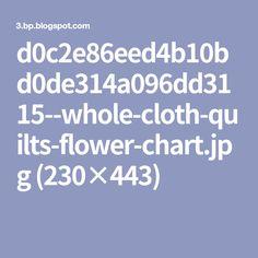 d0c2e86eed4b10bd0de314a096dd3115--whole-cloth-quilts-flower-chart.jpg (230×443)