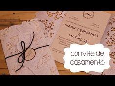 Convite de Casamento Rústico com Doilie DIY