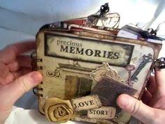 6x6 Timepiece Chipboard Mini Album