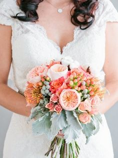 unforgettable bright bouquet from a wedding captured by Dabble Me This http://dabblemethis.com/