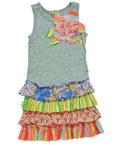 Idea for homemade dresses for the girls sew fabric to a tank, shirt, longsleeve shirt!