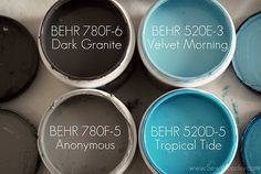 BEHR Paint Samples- This is my favorite color combination with a nice crisp white.