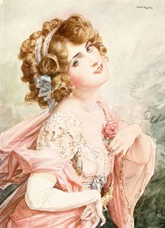 Talbot Hughes (1869-1942) - Lily Elsie in The merry widow, 1908
