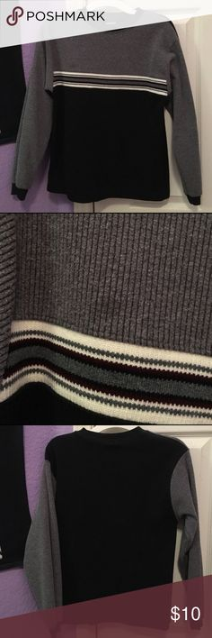 Boys Striped Sweater Perfect sweater for Christmas or other festivities! Small stain on the front, shown in 2nd picture. Otherwise in good condition. PLEASE READ THE ENTIRE DESCRIPTION BEFORE PURCHASING! 🚫 NO TRADES. NO HOLDS. NO MERC@RI 🚫📩 I only respond to offers made through the offer button 📩  🙋🏼Questions? Just ask! Serious inquiries only please. EVERYTHING MUST GO!! 💁🏼 Faded Glory Shirts & Tops Sweaters