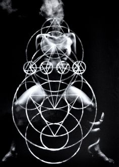 canvas printing and b&w painting; alchemy surreal sacred geometry collage